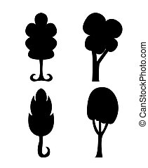 Abstract trees silhouette