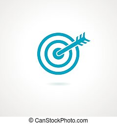 achieving goal logo design template vector illustration