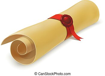 Diploma - Graduation diploma scroll vector educational...