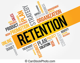 RETENTION word cloud, business concept