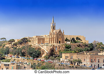 Parish church in Mgarr on Gozo Island Malta - Parish church...