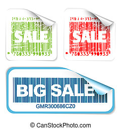 Set of fresh white sale labels
