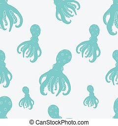Nice octopus pattern - Beautiful vector pattern with nice...