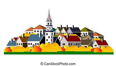 Cityscape - An illustration of cityscape with colorful...