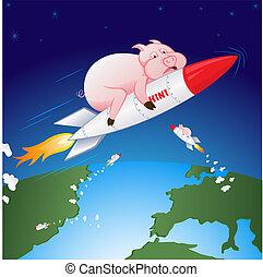 Swine flu - H1N1 - Vector illustration