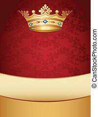 crown on a red background