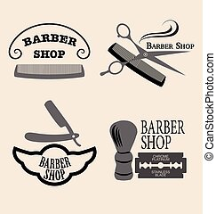 Barber shop - Vector set of vintage barber shop emblems