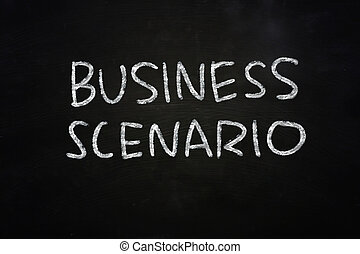 Business Scenario - Motivational concept the words Business...