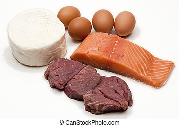 Protein - Some exemples of animal protein, eggs, cheese,...