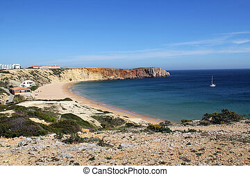 scenic coastline of Sagres, Algarve, Portugal