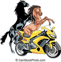 my original motorbike design and horses on the white...