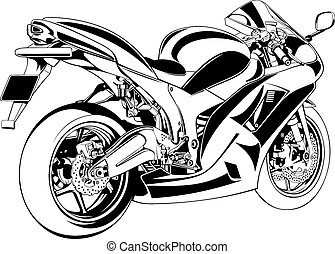 my original motorbike design on the white background