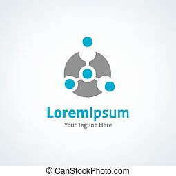 Modern technology core integrate vector logo icon