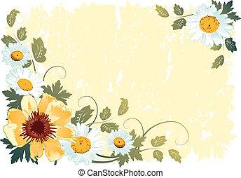 flower background - Grunge flower background