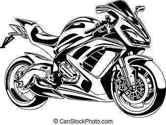 my original motorbike design on the white background