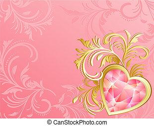 heart - valentine\'s day background