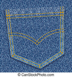jeans pocket - blue jeans pocket