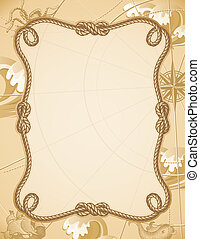 knot frame - abstract sailing knot frame
