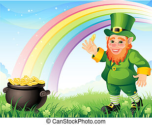 leprechaun - Lepracon with a gold pot