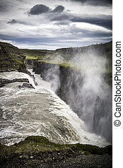 Iceland Gullfoss waterfall - Part of Icelands Golden Circle,...