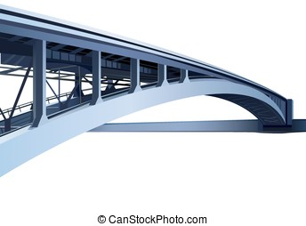 blue large metal bridge vector