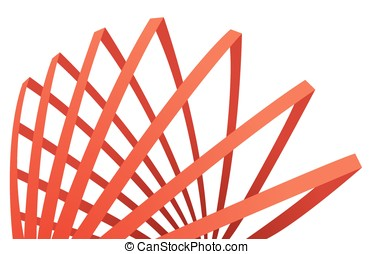 abstract red composition with stripes, vector