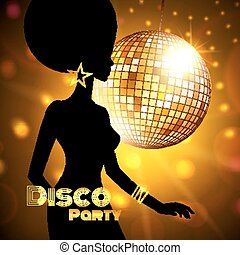 Disco Party - Disco Party invitation template with...