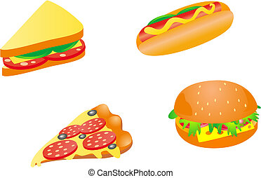 Fast food icons - Set of fast food icons for design