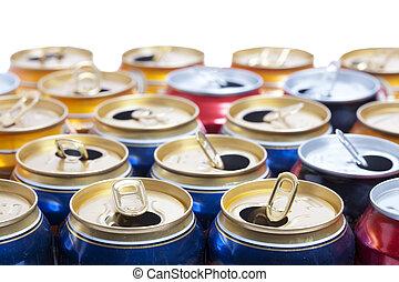 vazio, Cerveja, alumínio, cans, ,