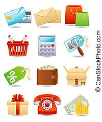 Shopping icon - shopping icon set