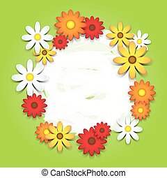 3D colorful daisies card