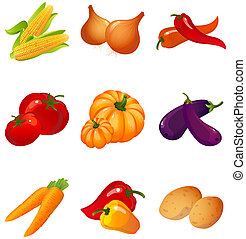 vegetables - set of vegetables