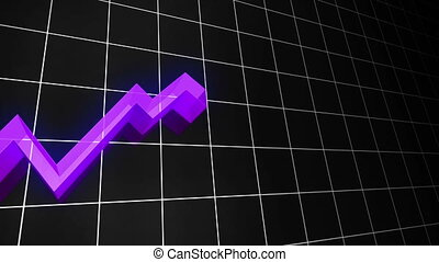 3D Loopable Growing Line Chart