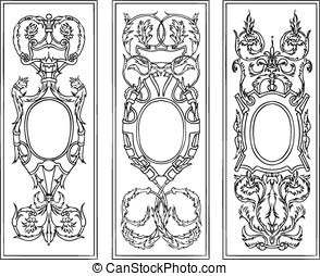 ornate antique frames vector set