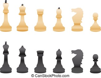 black and white chess isolated