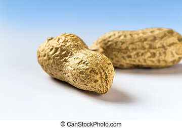 Two peanuts shelled