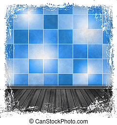 Blue grunge background Abstract vintage texture with frame...