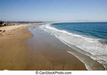 California sand beach near Pismo Beach USA
