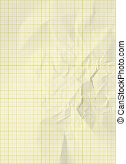 yellow color lines graph millimeter paper