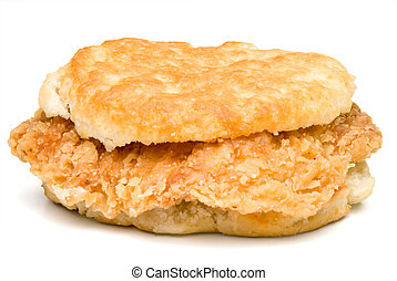 Chicken Biscuit - A delicious Chicken Biscuit ready to be...