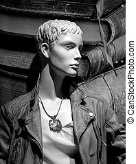 Androgynous mannequin - Upper body of an androgynous...