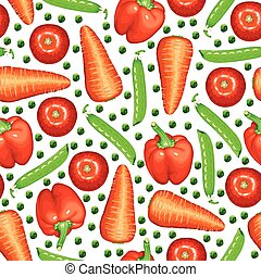 Mixed vegetables pattern seamless