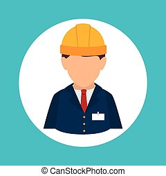 Construction design. - Construction design over blue...