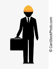 Construction design. - Construction design over white...