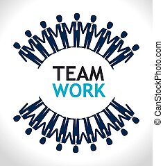 Teamwork design - Teamwork design over white background,...