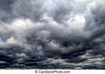 Stormy sky - Stormy and black sky , just before starting to...
