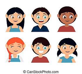 Kids design - Kids design over white background, vector...