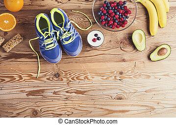 跑, 鞋子, 地板