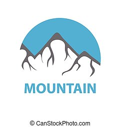Mountains, vector logo