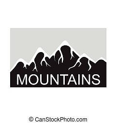 Mountains, vector logo - Mountain landscape, vector logo...
